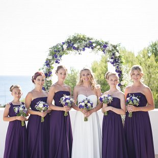 Jennifer and her Bridesmaids